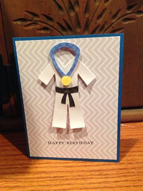 karate birthday card template handmade happy birthday card karate birthday card
