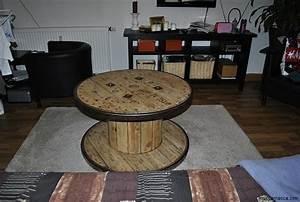 Tisch Aus Kabeltrommel : kabeltrommel tisch runder couchtisch aus holz ~ Orissabook.com Haus und Dekorationen