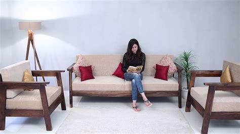 Wood Sofa by Wooden Sofa Set Conan Wooden Sofa Set In India