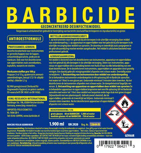 barbicide desinfectie concentraat  liter barbicide