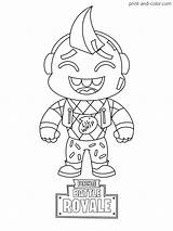 Fortnite Coloring Pages Boys Cartoon Colouring Whip Lil Skin Printable Sheets Season Drawings Drawing Easy Mini Games sketch template