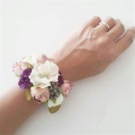 accessories silk flower bracelet  weddbook