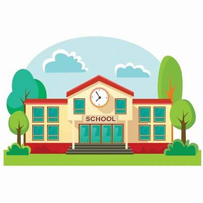 Elementary Building Clip Clipart Student Illustration Background