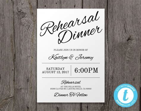 rehearsal dinner invitation template printable wedding rehearsal dinner invitation template instant edit in our web app