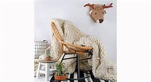 Plaid Pour Fauteuil : plaid tricot xxl grosses mailles le journal de la maison ~ Teatrodelosmanantiales.com Idées de Décoration