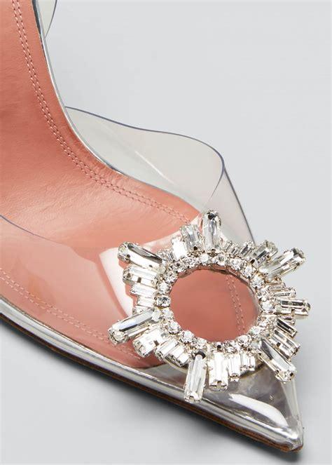 amina muaddi begum glass transparent sandals bergdorf