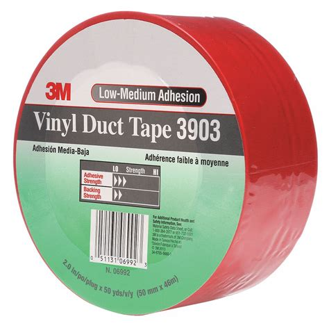 3m Duct Tape,2 In X 50 Yd,65 Mil,red,vinyl 15f7743903