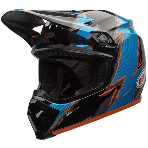 Bell Helmets Mx 2017 New Mx9 Rebound Black Blue Dirt Bike