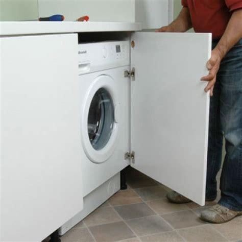 lave linge cuisine installer plan de travail sur machine a laver maison