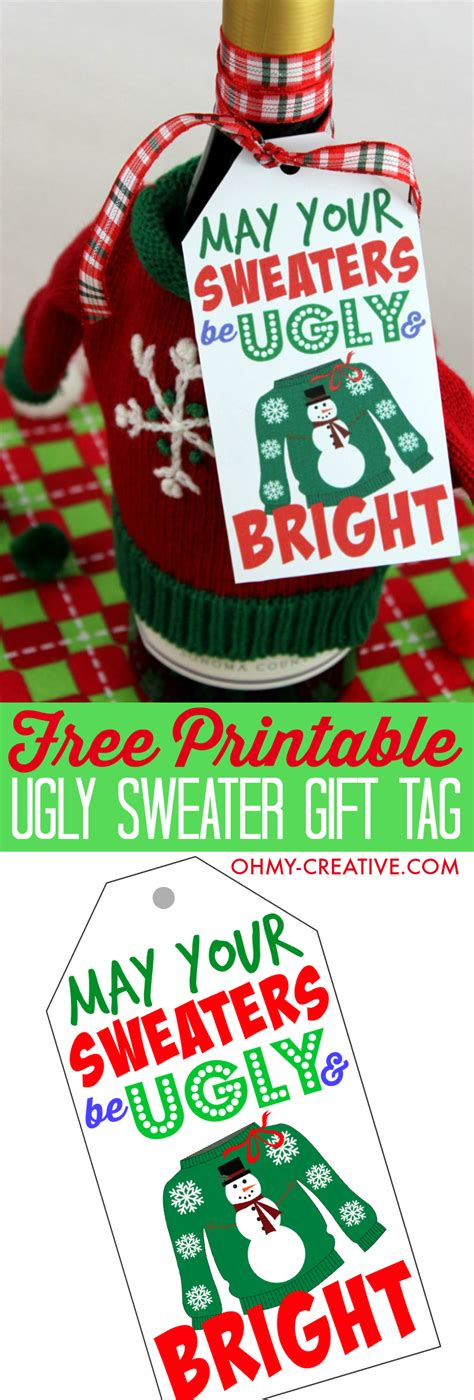 Ugly Sweater Gift Tag Printable  Oh My Creative. Create Book Cover Online Free. Excellent Download An Invoice Template. Make Career Change Resume Sample. Christmas Greeting Card Messages. Austin Graduate School Of Theology. Basketball Birthday Invitations. Expression Web 4 Template. Baby Announcement Movie Poster