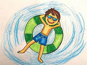 Painting summer for kids | How to draw swimming pool fun 2 ...