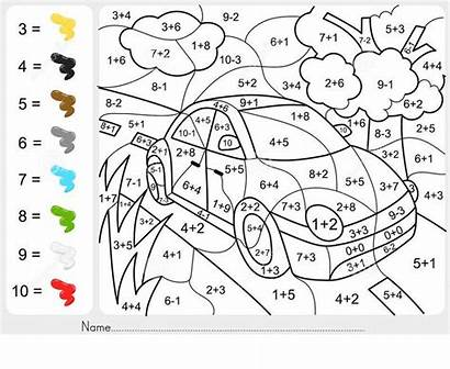 Grade Coloring 2nd Math Worksheets Addition Subtraction