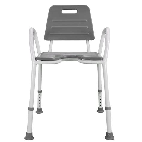 shower chair seat stool adjustable height soft backrest