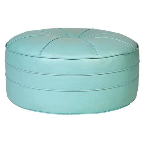 round ottomans for sale 1960s turquoise over sized round pouf ottoman for sale