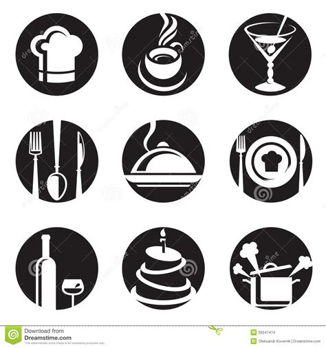 pictogramme cuisine restaurant icon set stock vector image 39247474