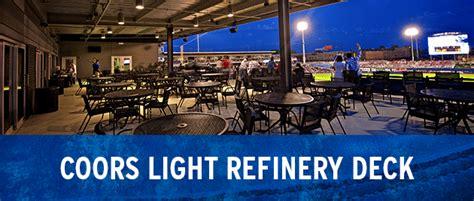 coors light suite bradley center coors light refinery deck tulsa drillers groups
