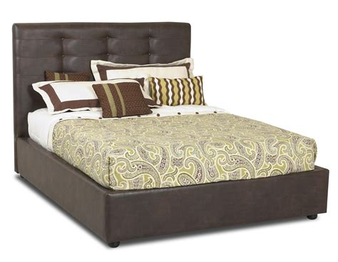Klaussner Hudson Queen Platform Bed With Upholsterd