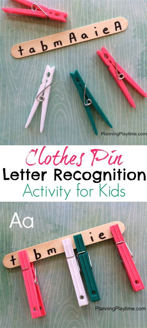 Clothes Pin Letter Recognition Activity For Kids  Letter Recognition, Activities And Kid