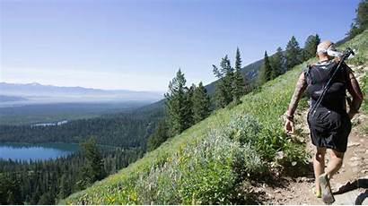 Grand Teton Climbing Rope Without Lake Along