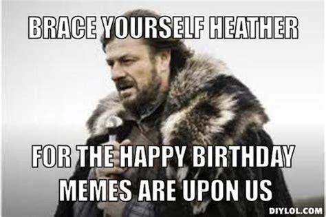 Funny Birthday Meme Generator - resized winter is coming meme generator brace yourself