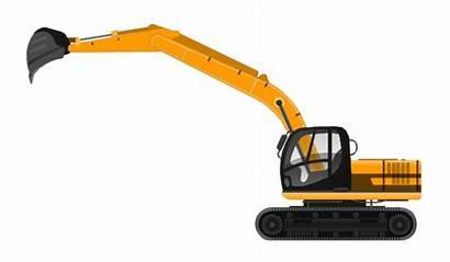 Excavator Clipart Vector Backhoe Industrial Construction Truck