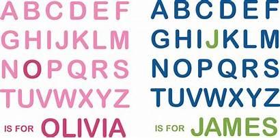 Alphabet Decal