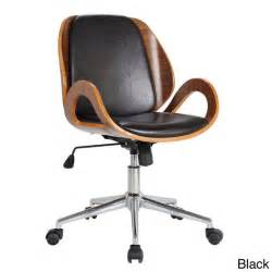 rika stained bentwood upholstered desk chair