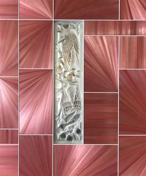 lalique straw marquetry panel detail en