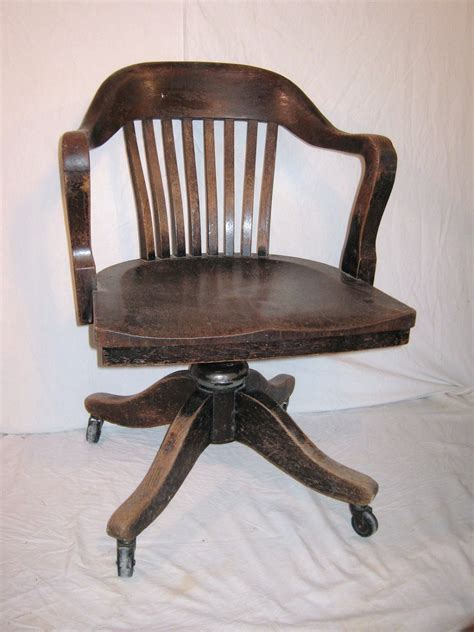 bankers desk l bankers chair vintage heavy wood from 1930 or 40s office desk