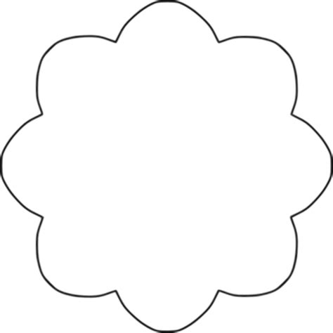 Free Template For Flower Petals Download Free Clip Art