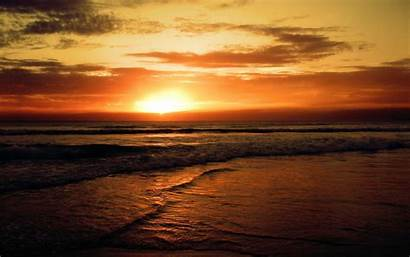 Sunset Beach Backgrounds Background Cool
