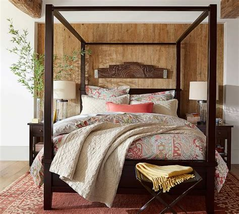 Pottery Barn Canopy by Farmhouse Canopy Bed Wooden Beds Pottery Barn