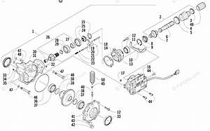 Arctic Cat Atv 2004 Oem Parts Diagram For Front Drive Gearcase Assembly