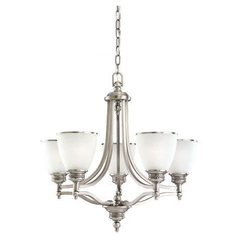 single chandelier sea gull lighting laurel leaf 5 light antique brushed