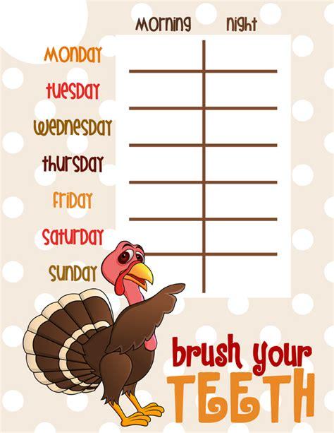 brush  teeth chart pigskins pigtails
