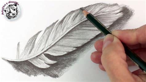 como dibujar una pluma  lapiz tecnicas de dibujo