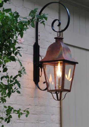 gas porch light lacaze collection rutledge lantern handcrafted copper