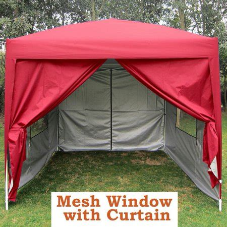 big salequictent privacy  mesh curtain red ez pop  party tent canopy gazebo