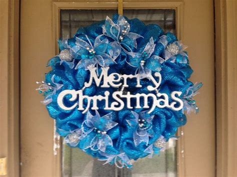 1000 images about blue on deco mesh frozen and frozen wreath