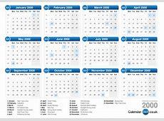 Calendar 2000