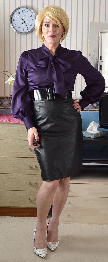 afbeeldingsresultaat voor tight satin blouse pics beautiful blouses leather skirt feminine