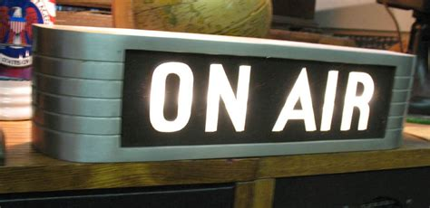 on air light the gallery for gt on the air sign vintage