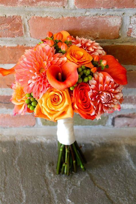 Best 25 Orange Wedding Bouquets Ideas On Pinterest