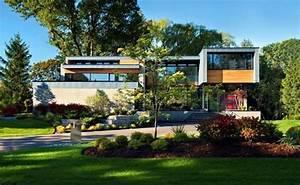 maison beton et bois thorncrest house par altius With good extension maison en l 16 les vans de pierres et de bois