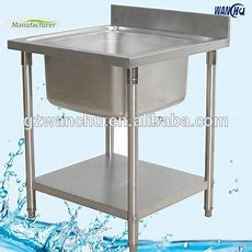 Single Sink Stainless Steel Portable Kitchen Sink Table