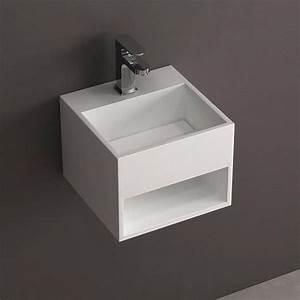Lave Main Suspendu : lave main suspendu 33x33 cm mati re composite mineral ~ Nature-et-papiers.com Idées de Décoration