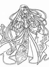 Coloring Pages Princess Dark Anime Fairy Popular sketch template