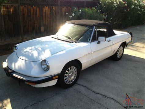 1985 Alfa Romeo Spider by 1985 Alfa Romeo Spider Graduate Convertible 2 Door 2 0l