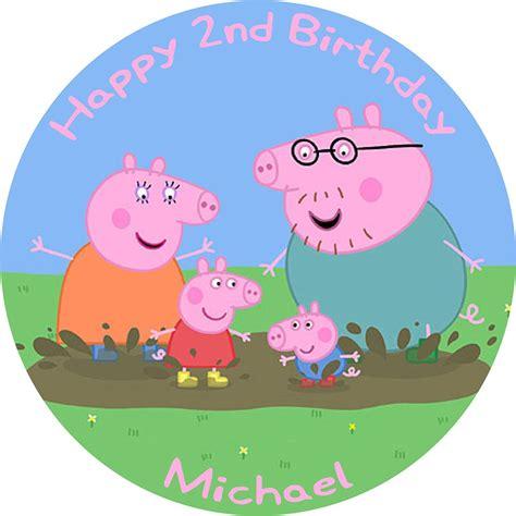 peppa pig birthday cake edible printed  birthday cake