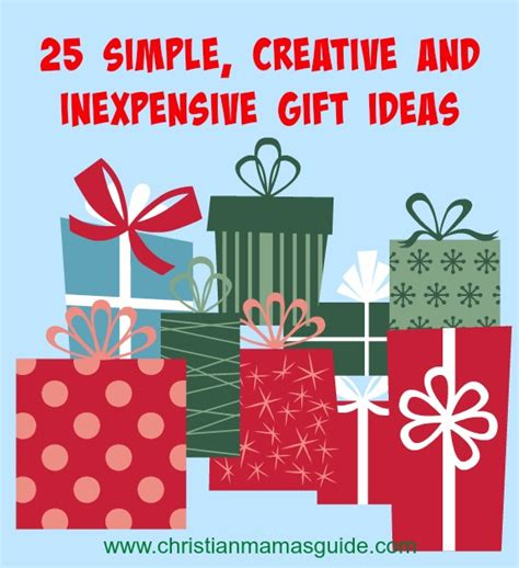 25 simple inexpensive and totally thoughtful gifts for
